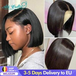 Парики для женщин Ali Grace Bob, короткие человеческие волосы, парики для волос, натуральные волосы, бразильские прямые парики для волос