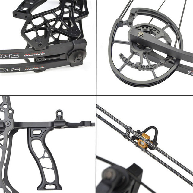 1set Archery 30-60lbs Adjustable Compound Bow Steel Ball Arrows Dual-purpose Pulley Bow 310FPS For Fishing Shooting Hunting Bow 4