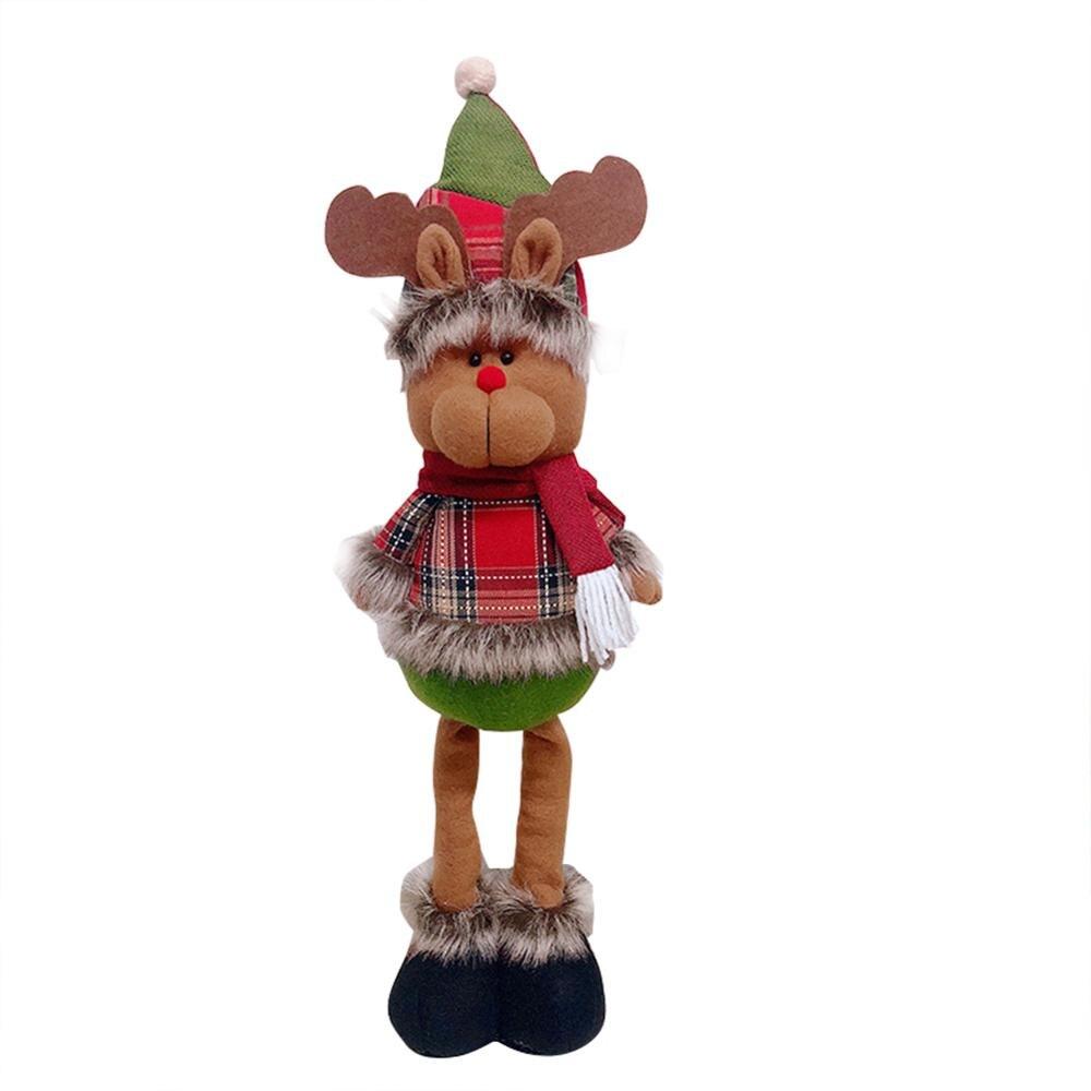Хит, 30 стилей, рождественские украшения для дома, Рождественские куклы, елочные украшения, инновационная декорация с лосем, Сантой, снеговиком - Цвет: X 57x13.5cm