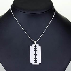 Pendant Necklaces Jewelry Razor-Blade Male Shaver-Shape Collier Women Barber for Salon