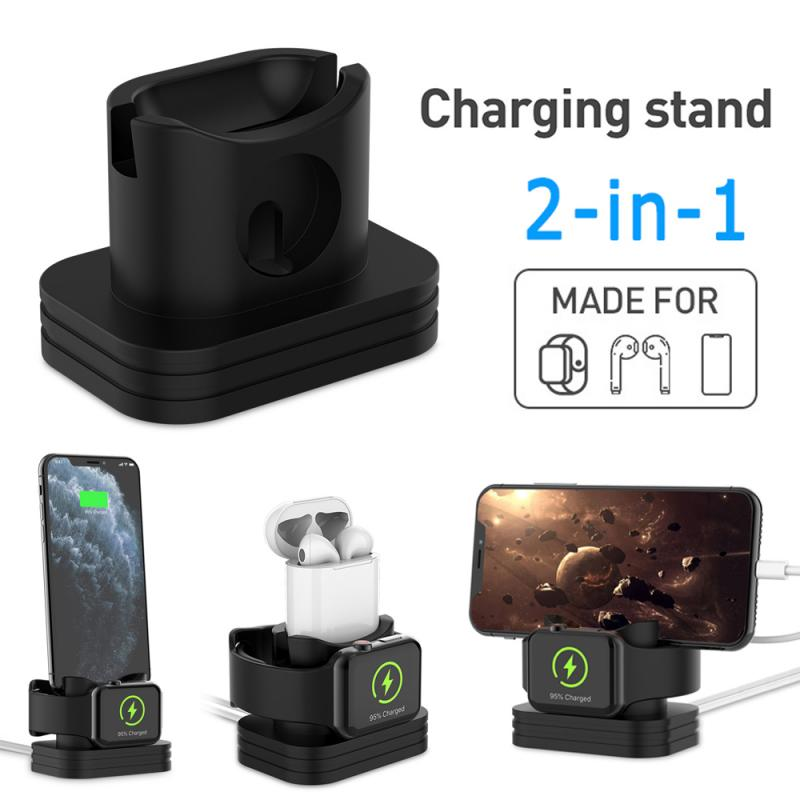2 In 1 Phone Watch Charging Dock Stand Charger Station For Apple Watch IPhone Series 1/2/3/4/5  42mm 38mm Charger Holder
