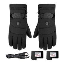 2 pièces gants d'hiver moto gants imperméables écran tactile alimenté par batterie chauffé plein doigt gants moto thermique Guantes