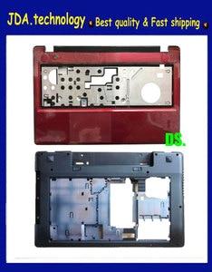 Wellendorff New/Orig RED For Lenovo IdeaPad Z580 Z585 Palmrest upper Cover Bezel w/Touchpad +Bottom base case(China)