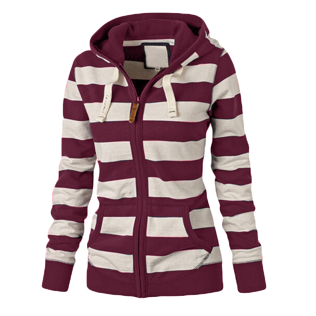 Fashion Tops Women Ladies Zipper Hoodie Hooded Sweatshirt Coat Jacket Casual Slim Jumper Autumn Womens Sweatshirts Blouse new