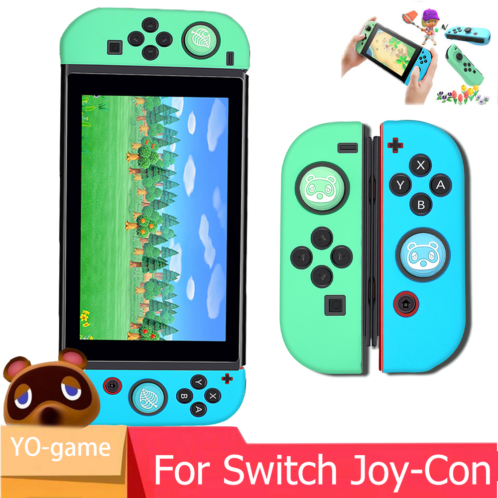 Nintend Switch Silicone Rubber Skin Case Cover Joy Con Controller Animal Crossing For NX NS Joycon Anti-slip Soft Case