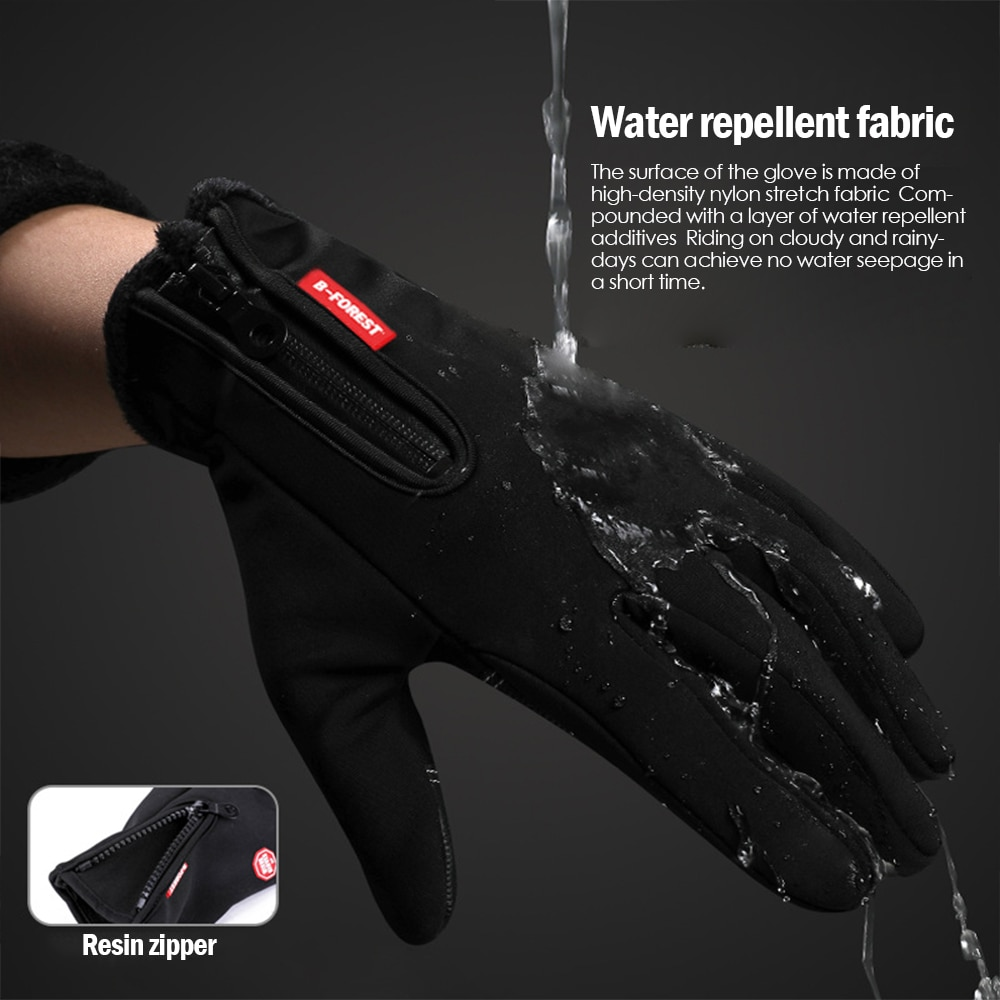 Obedient Winter Outdoor Hiking Skiing Gloves Sports Windstopper Cycling Gloves Waterproof Thermal Gloves For Men Women Motorcycle Driving