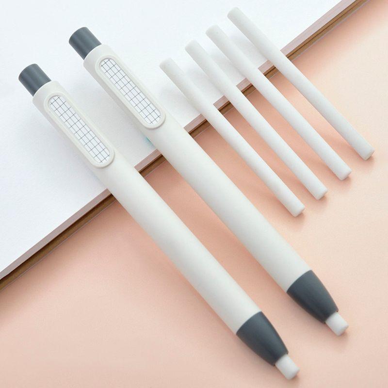 Refillable Pen Shape Rubber Press Type Mechanical Eraser School Stationery Art