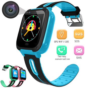 Child Smart Digital Watch with Security Anti-lost SOS Emergency Call LBS Positioning Kids Clock Intelligent Power Saving Watches