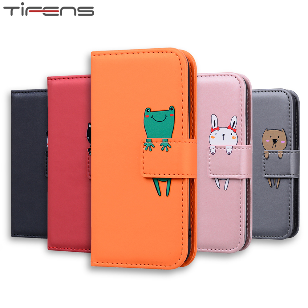 Luxury PU Leather <font><b>Flip</b></font> Wallet <font><b>Case</b></font> For <font><b>Samsung</b></font> Galaxy J4 J6 2018 Plus J3 <font><b>J5</b></font> J7 <font><b>2017</b></font> EU Cute Animal Cards Stand Phone Cover Bags image