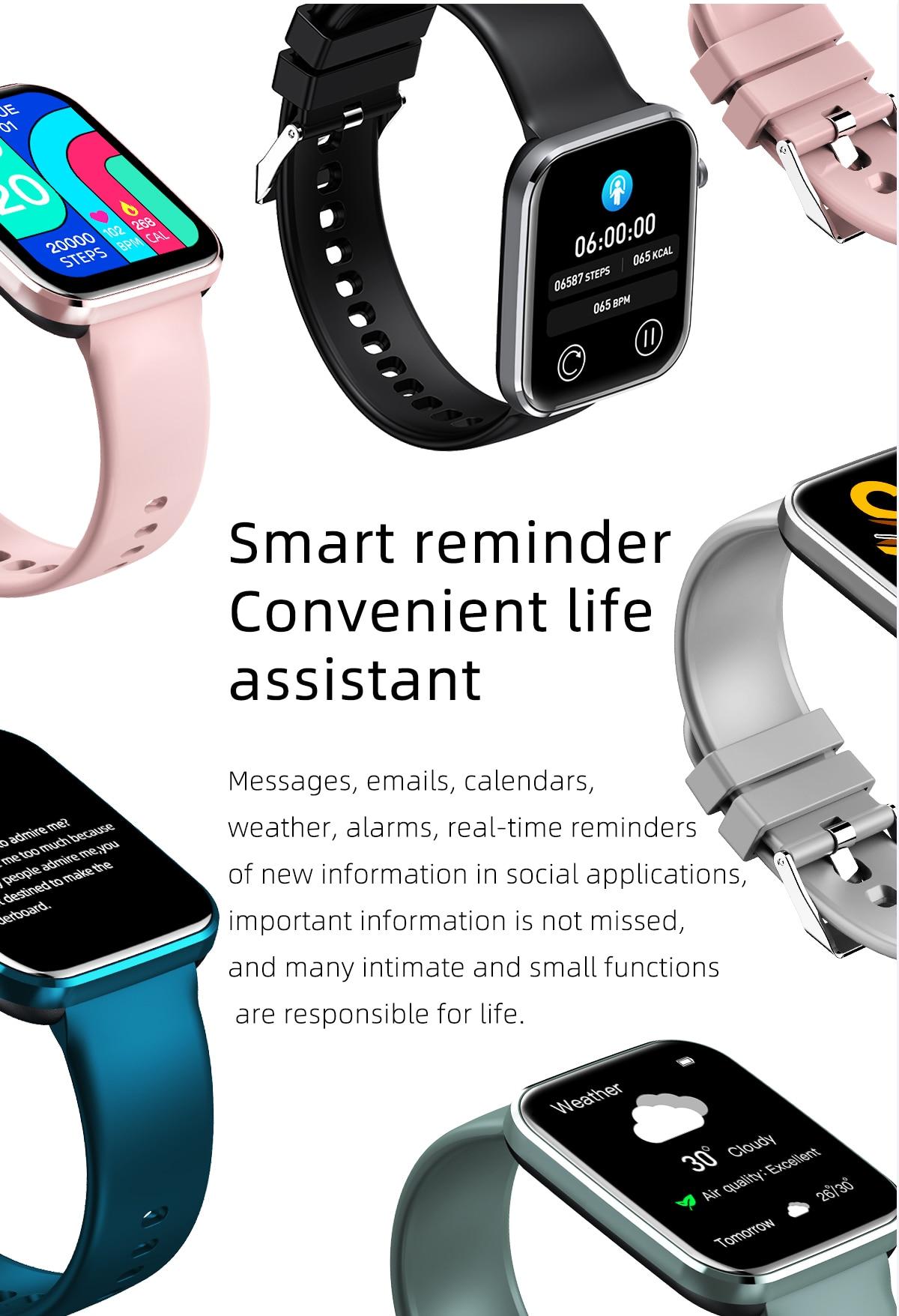 Hb08d4099ff7e4bbeaac10b4d8cc13fa17 MISIRUN Z15 Smart Watch for Man Women Full Touch Blood Pressure Smart Clock Women watch Smartwatch for IOS Android Xiaomi Phone
