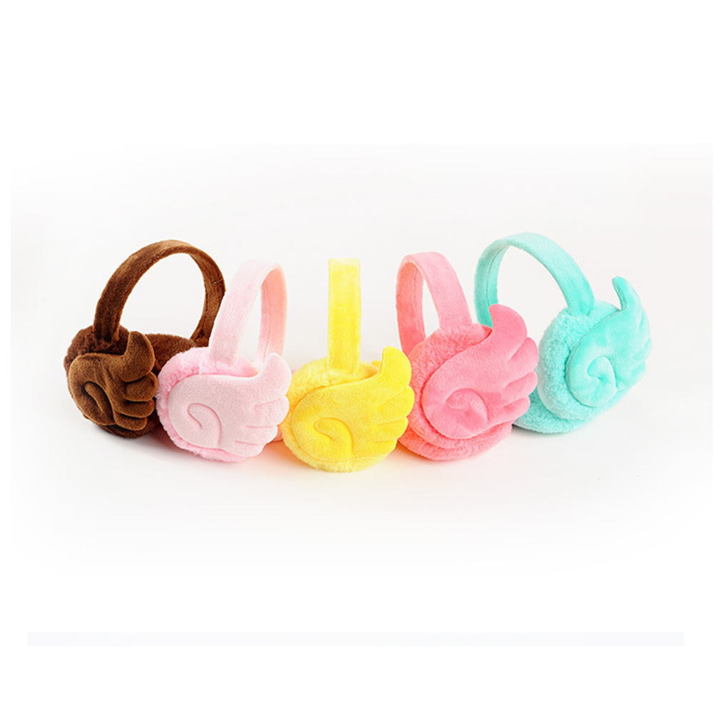 Fashion Wing Plush Female Winter Earmuff Warm Ear Muffs Girls Earmuffs Ear Warmers Protector Fur Headphones New Arrival