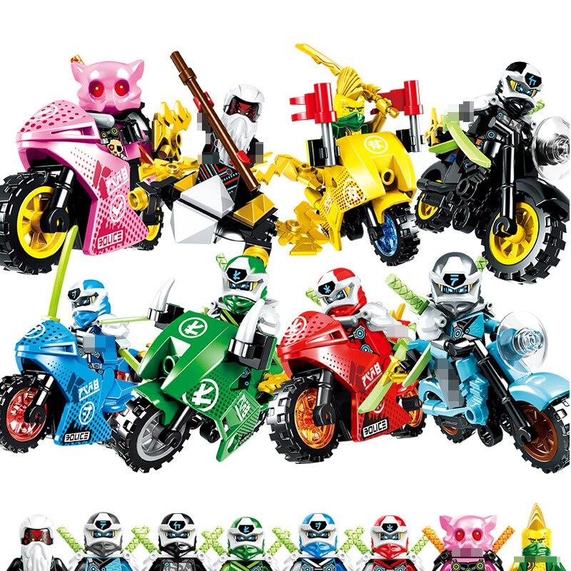 New 2020 Ninjagoed Fire Fang Spinjitzu Building Blocks Kit Bricks Classic Movie Ninja Model Kids Toys For Children