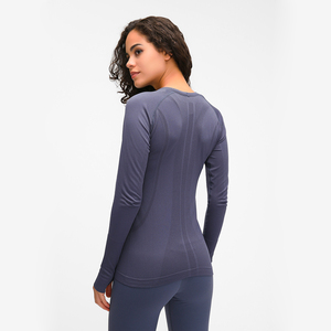 Image 2 - Nepoagym OCEAN Women Yoga Seamless Top Super Soft Long Sleeve Shirt Stretchy Workout Tops Sports Wear for Women Gym