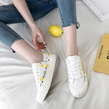 New spring women's casual vulcanized shoes color matching fruit pattern non-slip