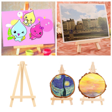 10PCS Kids Mini Wooden Easel Art Painting Card Stand Display Holder Drawing for Triange Easel Artist Supplies Decor metal easel for artist painting sketch weeding easel stand drawing table box oil paint laptop accessories painting art supplies