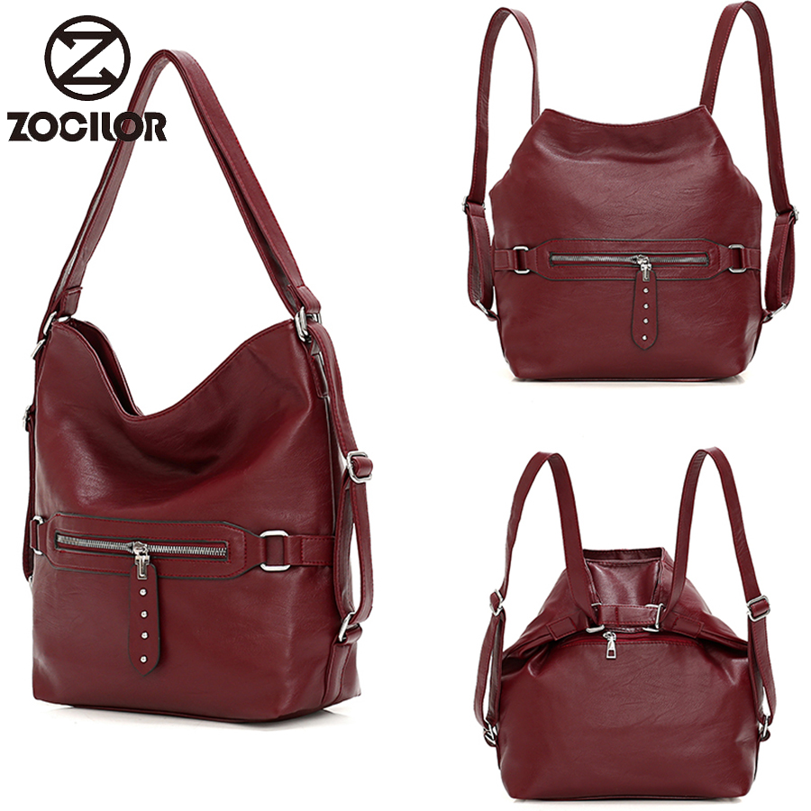 Multifunction Women's Backpack Casual Travel Shoulder Bag High Quality Ladies Bag Fashion PU Leather Backpack Ladies Bag