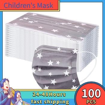 10-100PC Children's Mask Disposable Facemask Protective For Children Cotton Mascarillas Ninos Mascarilla Tela Con Filtro Careta