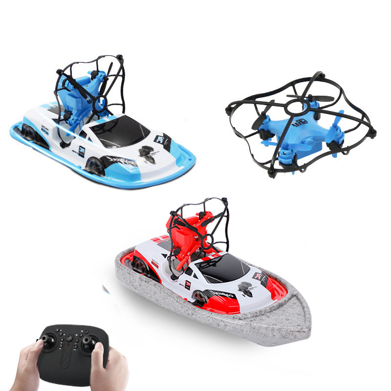3 in 1 Airplanes RC car RC speed boat Toy HD camera Aerial photography Simulator UAV Drone Four-wing Aircraft Deformable gift 2 image