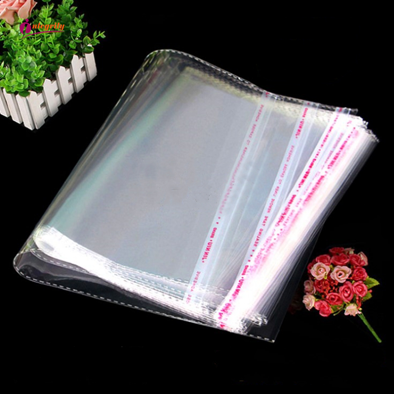 INTEGRITY 1000pcs various large sizes Clear Self Adhesive sealing Plastic Opp poly Candy Cookie Packing Resealable Packaging bag