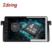 Idoing Android 9.0 4G+32G 8Core 2Din Steering Wheel For BMW E46/320/325 Car Multimedia GPS Player Fast Boot 1080P HDP 3G Dangle
