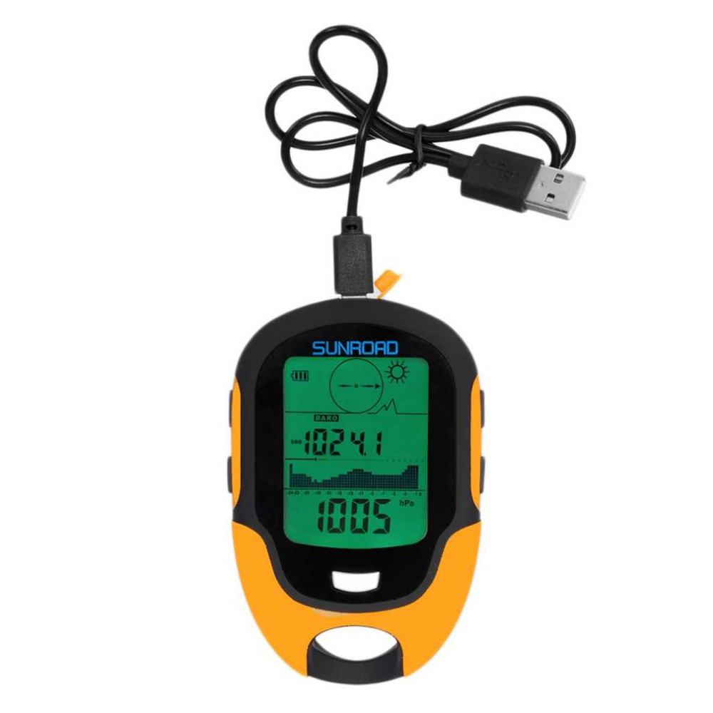 Brand New Multifunctional <font><b>FR500</b></font> Portable Digital Altimeter Waterproof LCD Screen Display Outdoor Use Barometer Device Hot Sale image