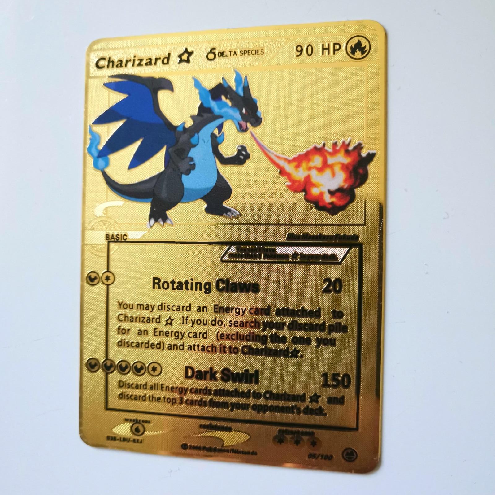 Dragon Ball золотая металлическая карточка супер игра Коллекция аниме-открытки игра детская игрушка - Цвет: huo 2