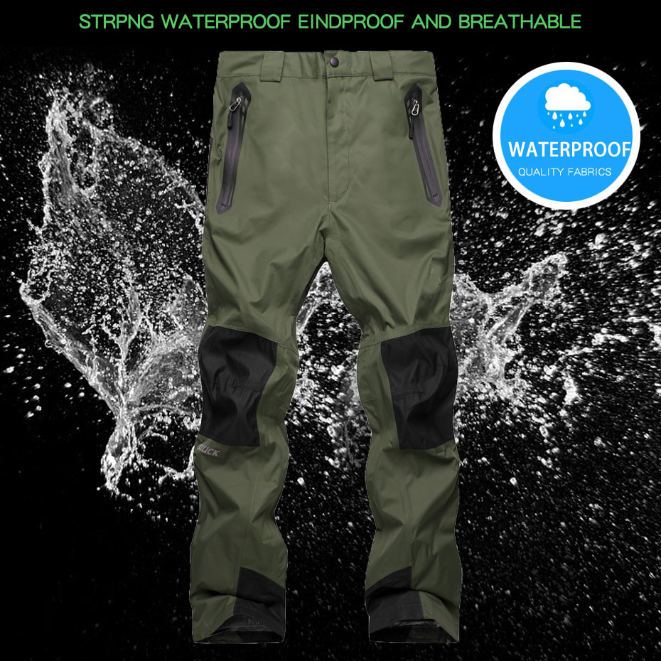 Winter Ski Pants Outdoor Men Hiking Windproof Waterproof Camping  Fleece Snow Pants Fishing Snowboarding Climbing Trouserl