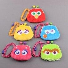 Wallet Sesame Cookie-Monster Street-Elmo Abby Girls Mini Gift Big Bird Coin-Bag 5-Styles