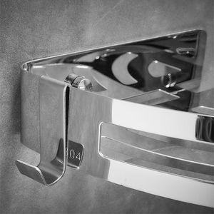 Image 2 - Punch Trasporto 304 In Acciaio Inox Triangolo Cestino Mensola del Bagno Della Parete di Aspirazione A Parete Bagno Di Stoccaggio Wc Doccia Scaffale