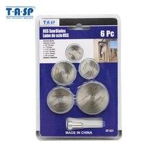 TASP 6 шт. мини дисковая пила набор отрезной диск из стали HSS роторный инструмент Аксессуары для Dremel/Мини дрель-дерево пластик алюминий