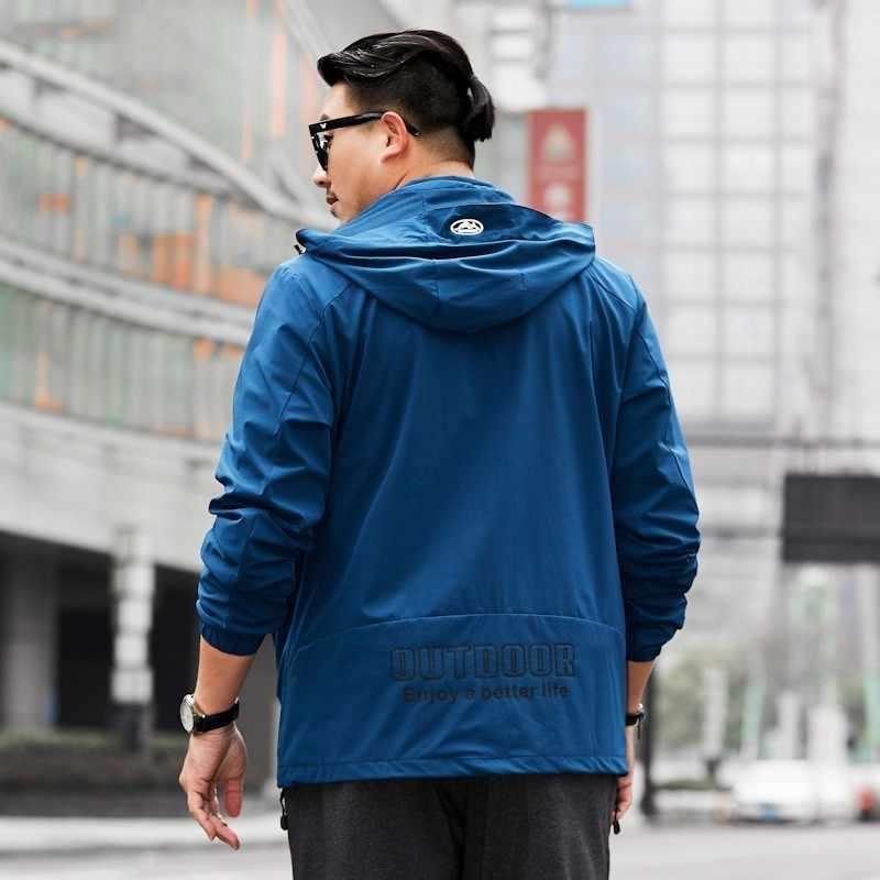 男性の 2020 新プラスサイズ 8XL 7XL 6XL 秋カジュアルボンバージャケットコートメンズ新着春のファッションポケットジャケットスリムフィット