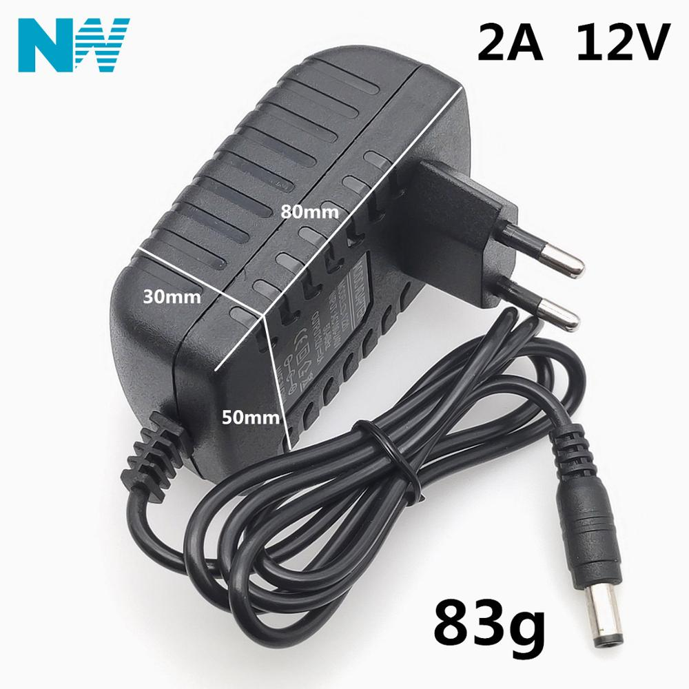 12V2A AC 100V-240V Converter <font><b>Adapter</b></font> DC <font><b>12V</b></font> 2A <font><b>2000mA</b></font> <font><b>Power</b></font> Supply EU Plug 5.5mm x 2.1-2.5mm for LED CCTV image