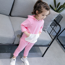 Children Clothing Set Hooded Sweatshirt Pants Kids Clothes for Girls Cotton Spring Fall Suits Long Sleeve Toddler Costume