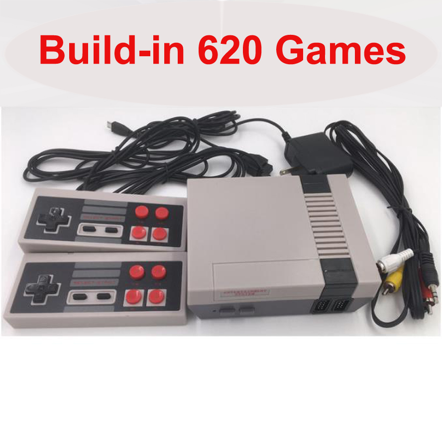 Built-In 620 Games Mini TV Game Console 8-Bit Retro Classic Handheld Gaming Player AV Output Video Game-Pad Toys Gifts 4 buttons