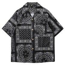 MoneRffi Стиле Кимоно Мужские Рубашки 2020 Японский Стиль Харадзюку Печати Свободные Рубашки Женщин Мужчин Пара Кимоно Кимоно Топы Лето