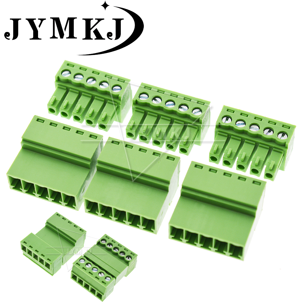 5sets Aerial Butt Welding Type 15EDGRK-3.81mm 2P - 24 Pin Plug-in Type 2EDG Type Green Terminal Block 2EDGRK For Connector Row