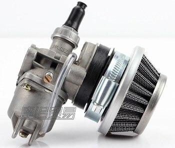 Carburador, carburador + filtro de aire de acero de 44mm + PILA DE 47cc, 49cc, Mini Moto de cross de bolsillo, ATV, Quad Mini moto Minicross