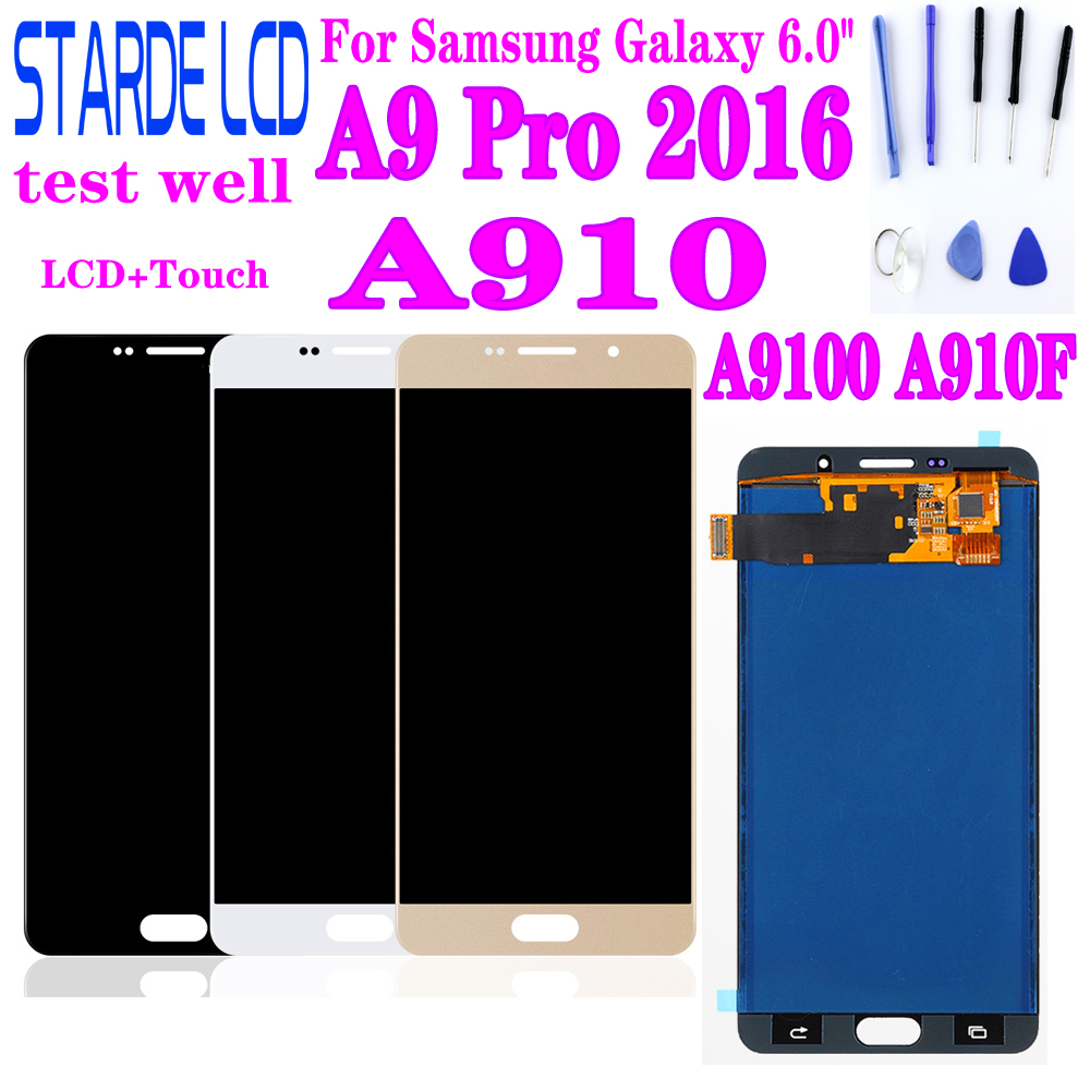 AAA+ 6.0'' For Samsung Galaxy A9 Pro 2016 A910 A9100 A910F LCD Display Touch Screen Digitizer Replacement For A910 Display