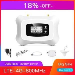 Image 1 - Akıllı 4G hücresel sinyal amplifikatörü LTE 800MHz cep sinyal güçlendirici band20 4G sinyal tekrarlayıcı kiti ile LCD ekran