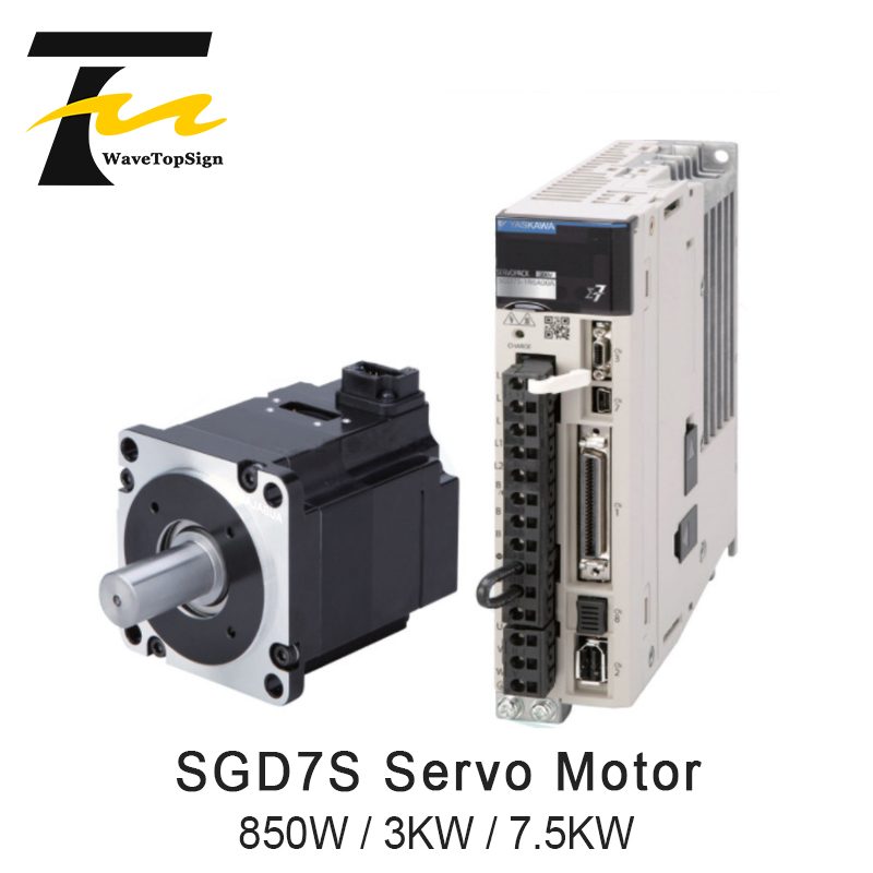 YASKAWA Servo Motor 850W 3KW 7.5KW SGD7S Series and Driver SGM7G Series + Connection Cable 5Meter