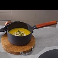16cm 2L Gusseisen Kochen Suppe Topf Milch Heizung Suppentopf Beschichteten Pfanne Küche Mini Stewpan Topf für Gas Induktion herd|Pfannen|   -