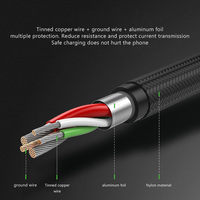 cable samsung 3A Micro USB cable 3M fast charging nylon USB data cable for Samsung xiaomi redmiCable Android adapter charger cable (4)