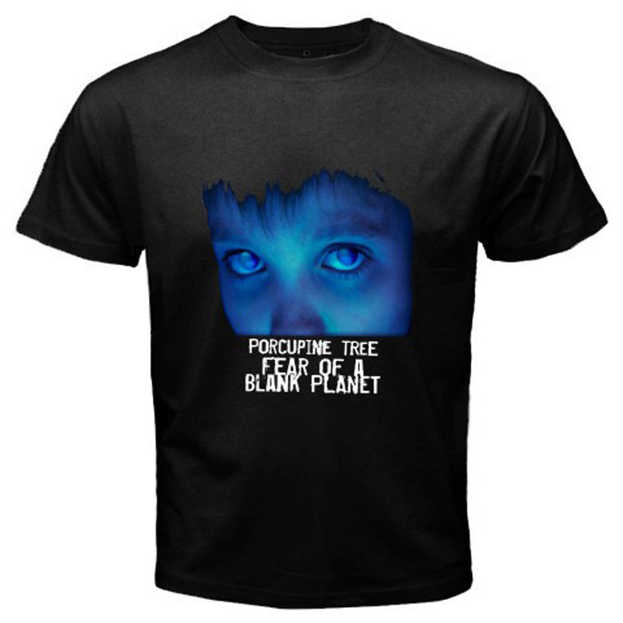 PORCUPINE TREE Fear of A Blank Planet Rock Band White Black T-Shirt Size S-2XL Cotton Cool Design 3D Tee T Shirts image