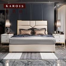 Ом комплект мебели для спальни Роскошная королевская итальянская дизайнерская кровать Рамка