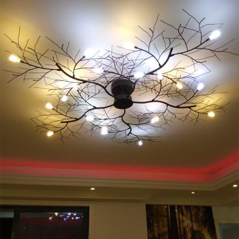 Скандинавский дизайн, новый светодиодный светильник для гостиной, черный цвет, используется для современного ресторана, креативная люстра