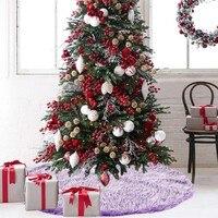 Long hair Non woven Christmas Tree Skirt Ornament 35inch Diameter Christmas H0826