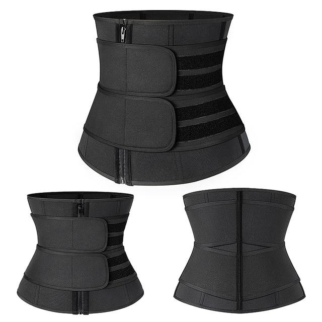 Neoprene Sauna Shaper Waist Trainer Corset Sweat Slimming Belt for Women Weight Loss Compression Trimmer Workout Fitness 5