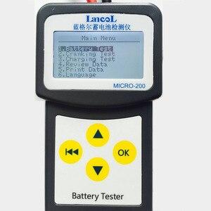 Image 2 - Lancol MICRO200 جهاز اختبار بطارية السيارة ، 12 فولت ، سعة البطارية الرقمية ، محلل بطارية السيارة الرقمية ، CCA 100 2000