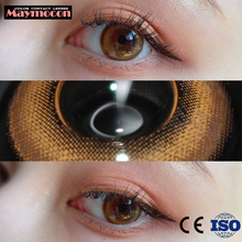 Contact Lenses Natural Bright Color lentes de contacto Beauty Cosmetic Eye Contacts Lens Colored Lens Pupil Eyes Brown Blue