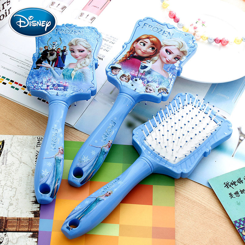 Disney Frozen Princess Comb Anna Elsa Anti-static Hair Care Brushes Baby Girls Dress Up Makeups Birthday Kids Gifts